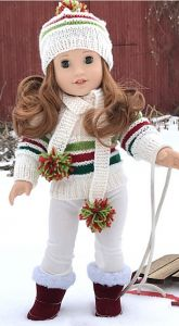 American Girl Doll Winter Sports Set
