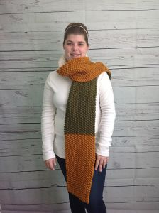 Simple Seed Stitch Scarf
