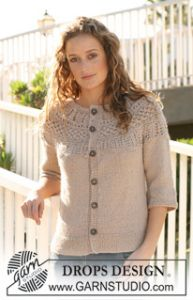 Jacket with Raglan Sleeve and Pattern on Yoke