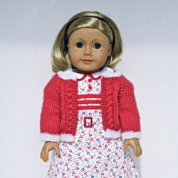"Kit's Cardigan - for 18"" dolls"