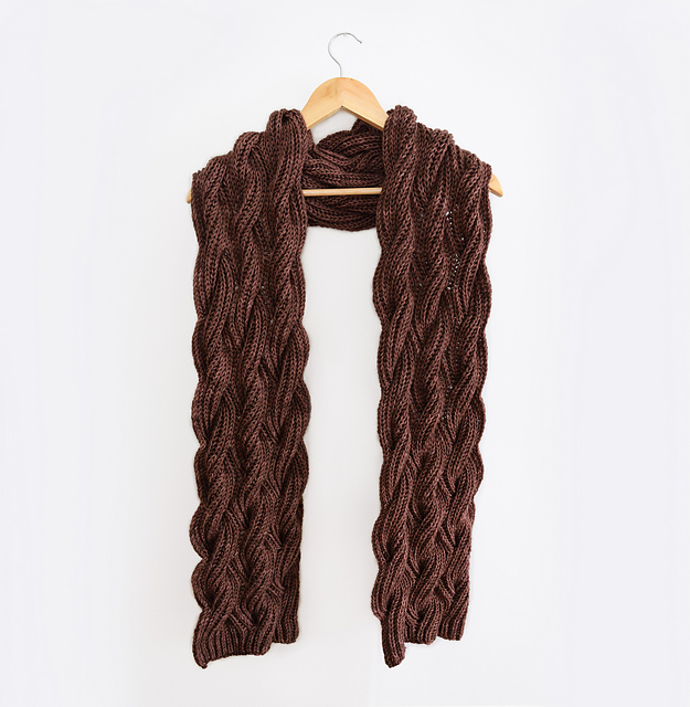 Knitting Patterns Galore Rosewood Scarf