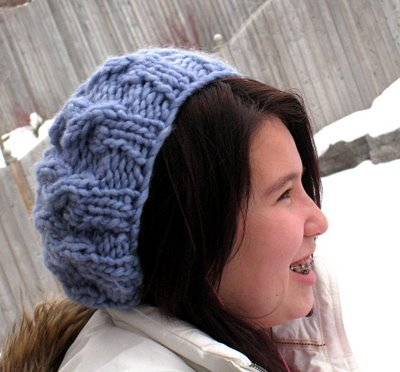 Free Knitting Pattern Cabled Beret : Knitting Patterns Galore - Speedy Cabled Beret