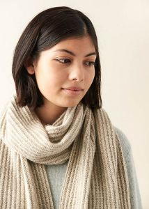 No-Purl Ribbed Wrap