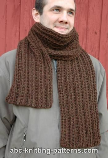 Knitting Patterns Galore Twin Rib Scarf