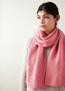 Little Mitered Stripes Scarf