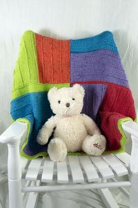 Playful Squares Baby Blanket