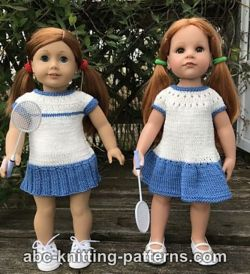 Tennis Dresses for 18-inch Dolls
