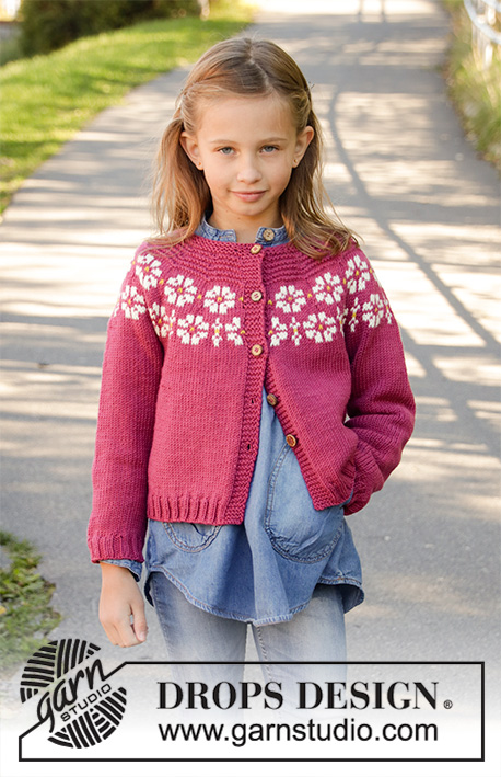 Knitting Patterns Galore - Daisy Delight Cardigan for Kids