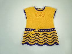 Hearts Knit Together Baby Dress
