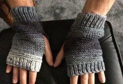 Men's Simple Fingerless Mitts
