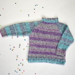 Universal Yarn Easy Stripe Pullover