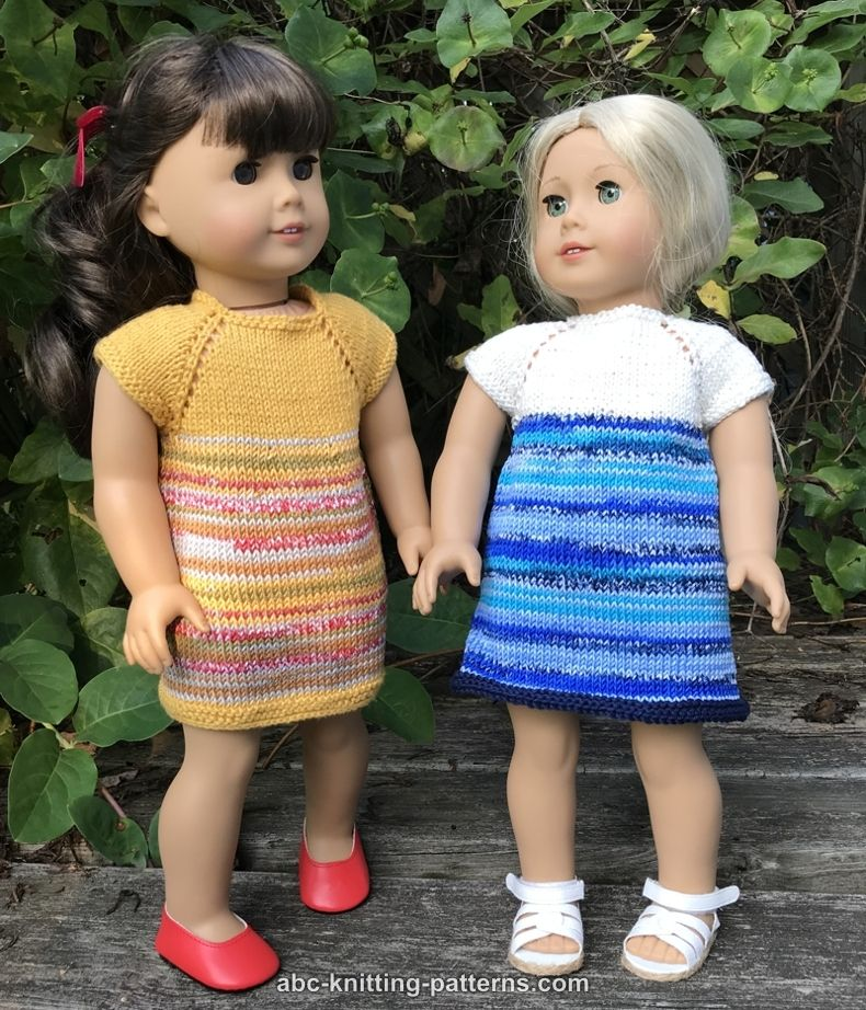 Knitting Patterns Galore - Perfect Little Dress for 18 ...