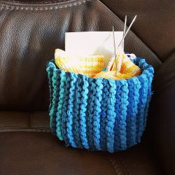 Sideways Garter Stitch Basket