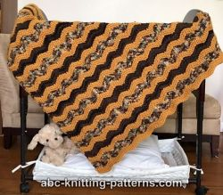 Chevron Baby Blanket or Lap Afghan