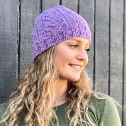 Davila Cable & Rib Heart Hat