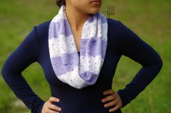 Speckled Stripes Infinity Scarf