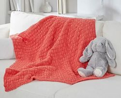 Bright & Cuddly Basketweave Blanket