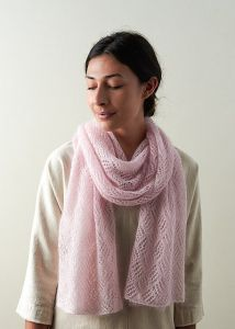 Checkerboard Lace Scarf In Tussock