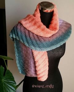 Ribbed Shawlette