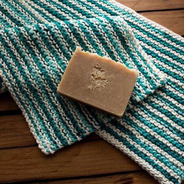 Knitting Patterns Galore - Dish Towel: Baker Stripes