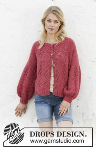 Berry Diamond Cardigan