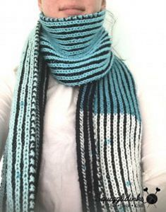 Easy Color Block Brioche Scarf