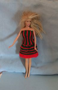 Barbie Striped Skirt and Top