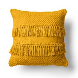 Texture and Fringe Pillow