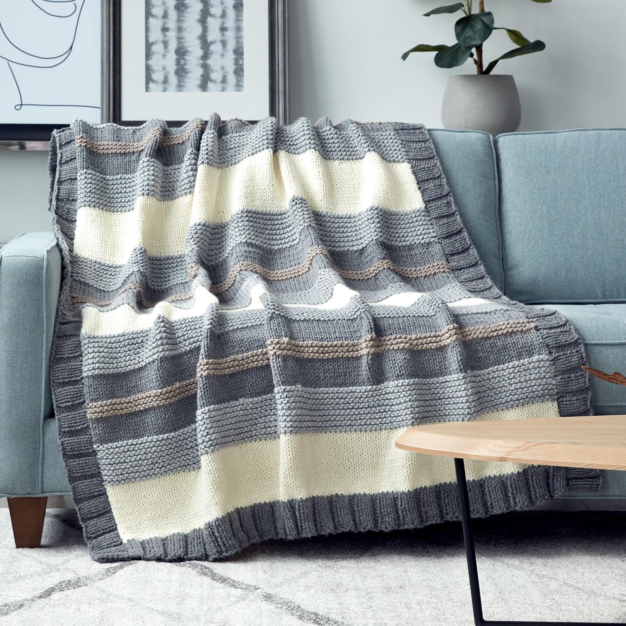 Knitting Patterns Galore - Simple Stripe Blanket