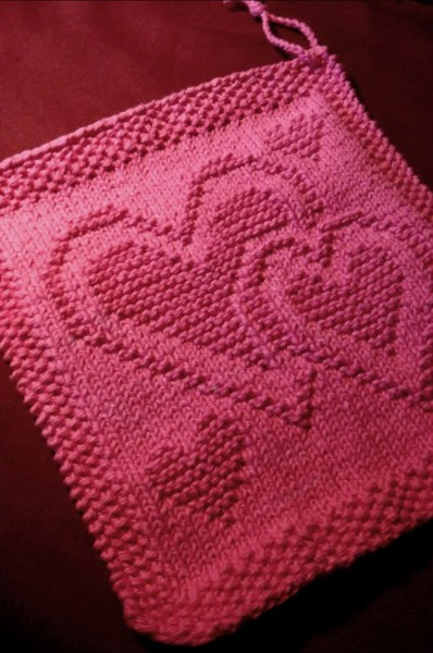 Knit Dishcloth Pattern Free : Knitting Patterns Galore - Be My Dishcloth