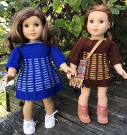 American Girl Doll Two Color Dress