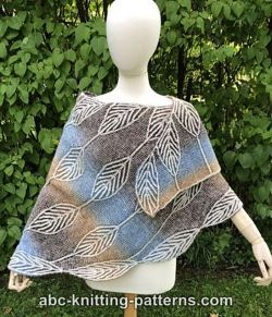 Leaf Crescent Brioche Shawl