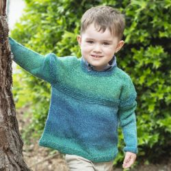Top Down Gradient Kid's Sweater