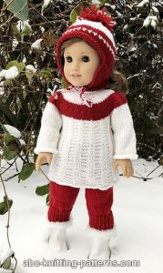 American Girl Doll Red and White Tunic
