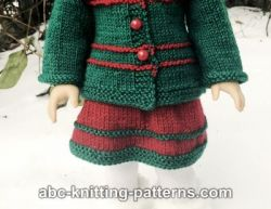 American Girl Doll Santa's Helper Skirt