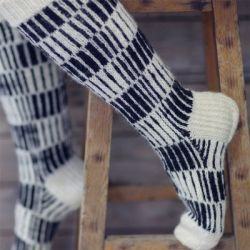 Novita Vertically Striped Socks in Nalle