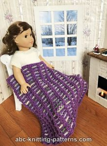 Stripey Doll Blanket