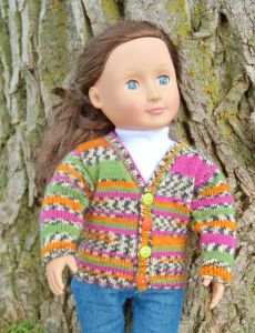 "V-Necked Sweater for an 18"" Doll"