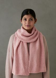 Staggered Fisherman's Rib Scarf