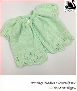 Knitting pattern Baby cardigan 3 styles in DK-Easy Knit fits birth 12 month