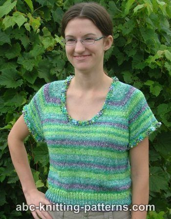 Knitting Patterns Galore One Skein Summer Top Down Top