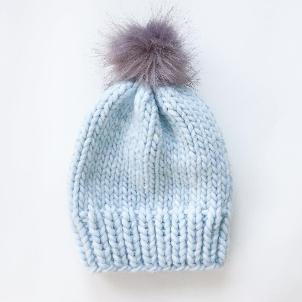 Knitting Patterns Galore - Simple Chunky Wool Knit Hat