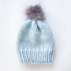 Simple Chunky Wool Knit Hat