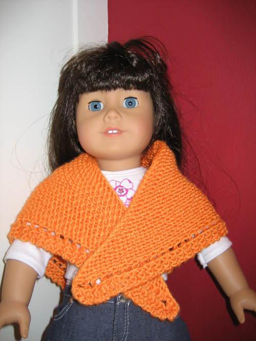 Knitting Patterns Galore American Girl Doll Triangular Shawl With