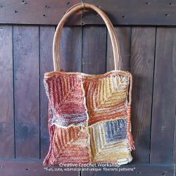 Rustic Mitered Squares Bag