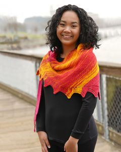 Rosey Sunrise Shawl