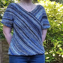 Garter Stitch Bias Top