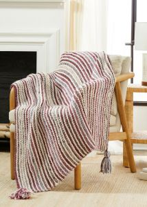 Striped Lap Blanket