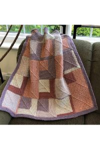 Hot Cakes Mitered Square Baby Blanket