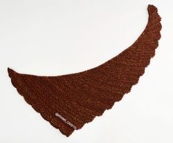 Scalloped Chocolate Shawlette